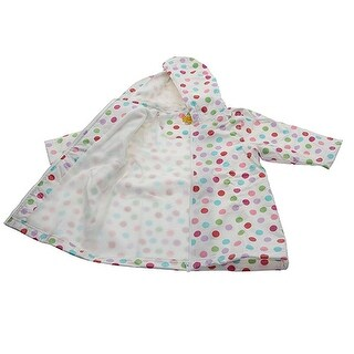 Pluie Pluie Girls Outerwear White Polka Dot Lined Raincoat 12M-8