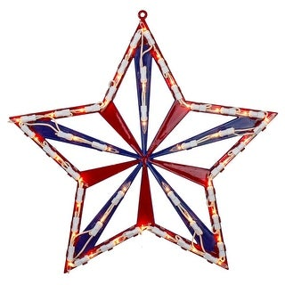 """Link to 14"""" Lighted Red White and Blue 4th of July Star Window Silhouette Decoration Similar Items in Decorative Accessories"""