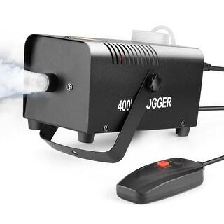 AGPtEK Celebrations Fog Machine, 400 WATT Portable W/ Wired Durable & Remote Control Fit Halloween, Party, Wedding - White