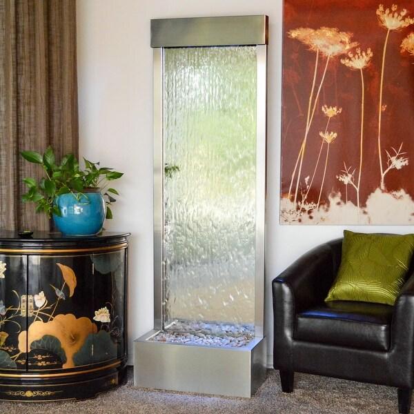 Bluworld Stainless Steel Gardenfall Fountain w/ Silver Mirror, 6-Foot