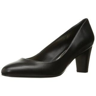 LAUREN by Ralph Lauren Womens Hala Leather Closed Toe Classic Pumps
