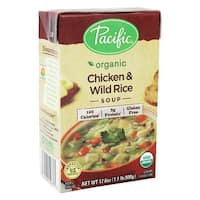 Pacific Natural Foods Soup - Chicken and Wild Rice - Case of 12 - 17.6 oz.