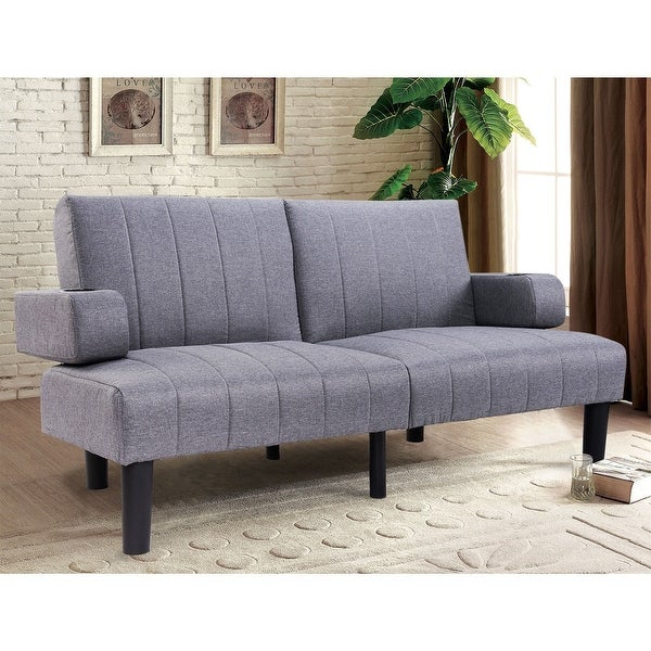 Shop Costway Futon Sofa Bed Convertible Linen Upholstered