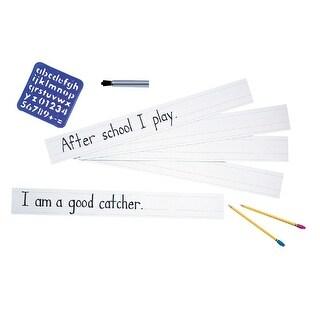 Zaner-Bloser Sentence Strips, 3 x 24 Inches, White, 100 Sheets