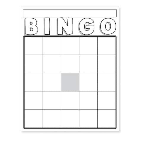 Blank Bingo Cards White