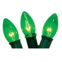 Celebrations C42UC711 C9 Light Set, 25', 25 Green Bulbs