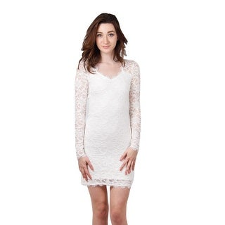 Long-Sleeved Lace Shift