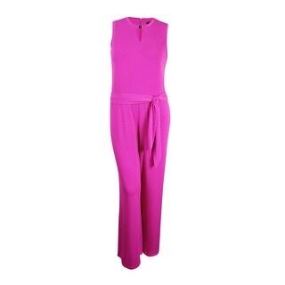 Lauren Ralph Lauren Women's Jersey Jumpsuit (XL, Purple) - Purple
