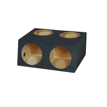 "Bass 12"" 4-Hole Woofer Box With Divider"