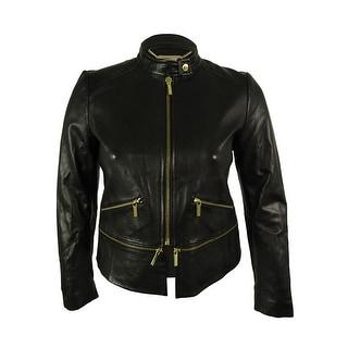 Michael Kors Women's 100% Real Lamb Leather Jacket - l