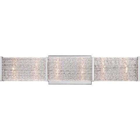 "Platinum PRN8606 Paragon 6 Light 22"" Wide Reversible Bathroom Vanity Light with Optic Crystal Shade - Polished chrome"