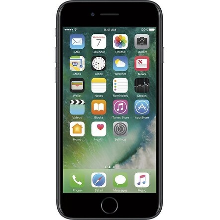 Apple iPhone 7 32GB Unlocked GSM Quad-Core Phone w/ 12MP Camera - Black (Refurbished)