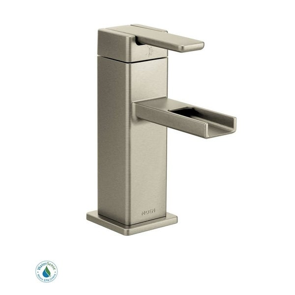 Shop moen s6705 single handle single hole bathroom faucet from the 90 degree collection valve for Moen 90 degree bathroom faucet