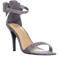 MG35 Beverly Back Bow Ankle Strap Sandals, Pewter