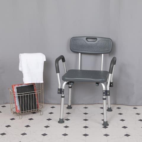 300 Lb. Capacity Adjustable Bath & Shower Chair with Depth Adjustable Back
