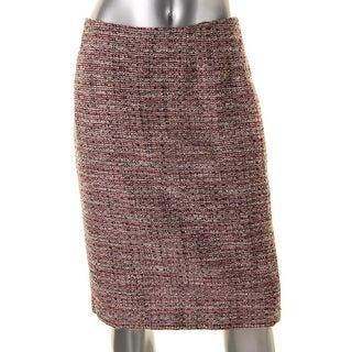 Kasper Womens Tweed Knee-Length Pencil Skirt