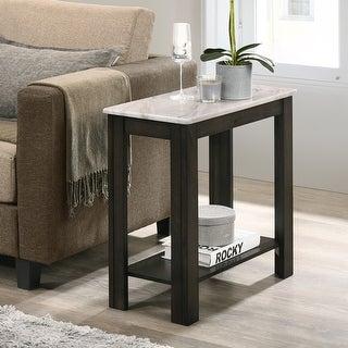 Link to Furniture of America Kari Transitional Dark Walnut 1-shelf Side Table Similar Items in Living Room Furniture