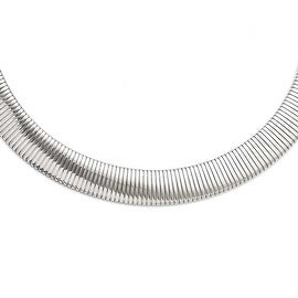 Chisel Stainless Steel Polished and Textured Necklace (15 mm) - 18 in