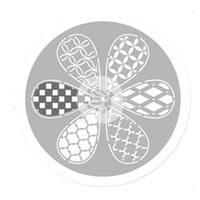 "Petal - Pinwheel Stencil 9"""