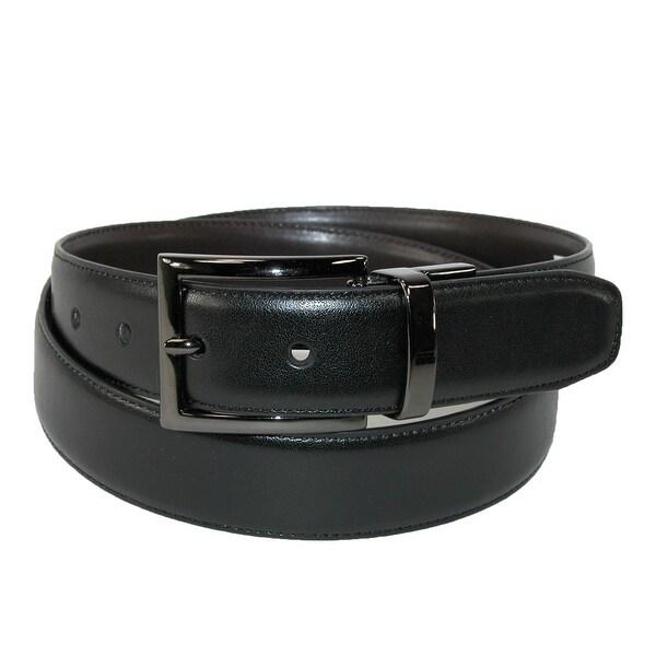 Dockers Men's Reversible Belt with Gunmetal Buckle