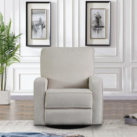 TiramisuBest Recliner Chair with Padded Seat Swivel and Rocking Chair