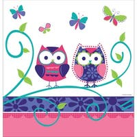 "Pack of 6 Owl Pal Birthday Disposable Plastic Party Banquet Table Covers 108"" - White"