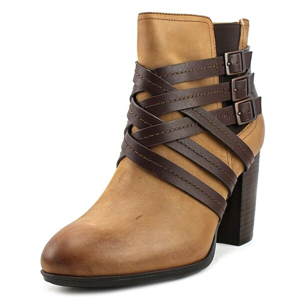 Sofft Arminda Women Round Toe Leather Brown Ankle Boot