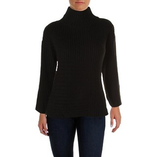 Vince Camuto Womens Ribbed Mock Neck Pullover Sweater