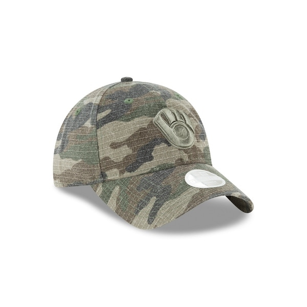 on sale c465b f6208 Shop Milwaukee Brewers 9TWENTY Core Class Camouflage Cap Womens - Free  Shipping On Orders Over  45 - Overstock - 19986213