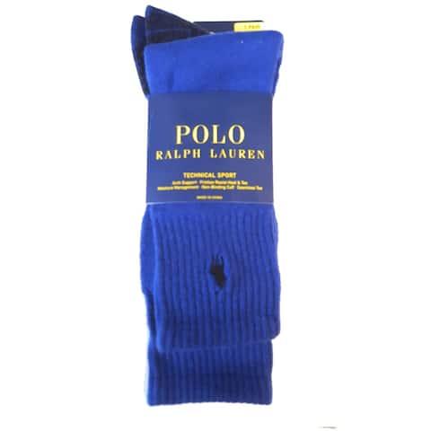 Polo Ralph Lauren Men's Technical Support Socks, Royal, One Size