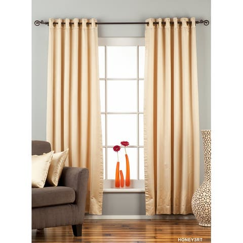 Golden Ring / Grommet Top blackout Curtain / Drape / Panel - Piece