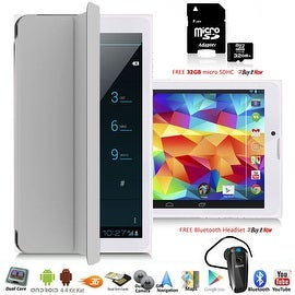 Indigi® Factory Unlocked 3G 7.0inch HD DualSim SmartPhone & TabletPC w/ Built-in SmartCover + Bundle Included(Grey)