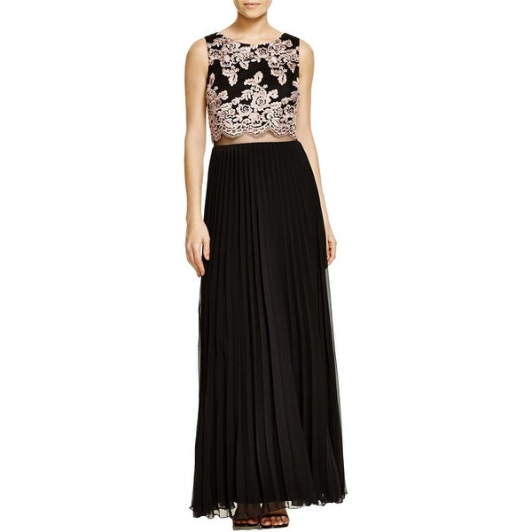 Shop Aqua Womens Semi Formal Dress Chiffon Lace Popover Free