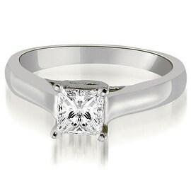 0.50 cttw. 14K White Gold Classic Princess Cut Lucida Diamond Engagement Ring