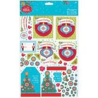 Papermania Folk Christmas A4 Decoupage Pack-Season's Greetings; Linen Finish