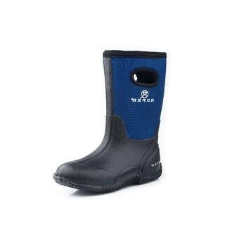 """Roper Outdoor Boots Boy 10"""" Rubber Barn Muck Blue"""