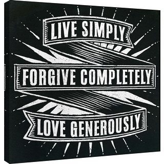 "PTM Images 9-101005  PTM Canvas Collection 12"" x 12"" - ""Honest Words - Live Simply"" Giclee Family Saying Art Print on Canvas"