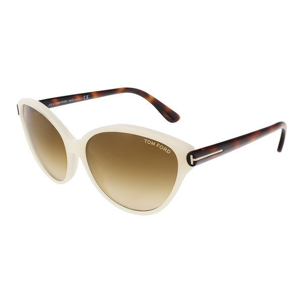 Tom Ford FT0342/S 20F Priscila Pearl White Cateye Sunglasses - Pearl White - 60-15-140