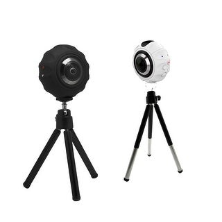 TechComm X720 VR 16 MP 720-Degree Panoramic Dual Lens Photo and Video Action WiFi Camera with Dual 7G Fish-eye Lens (Option: White)