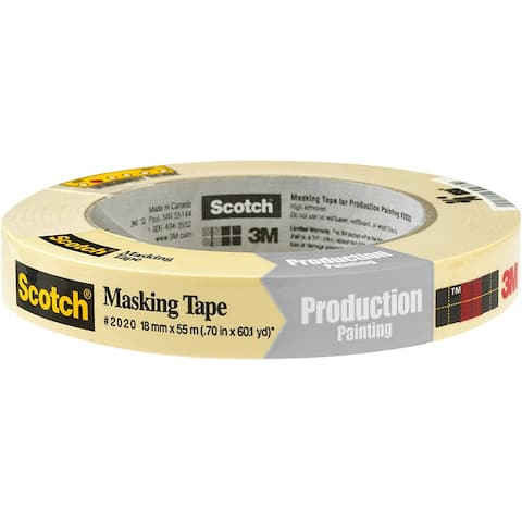 "Scotch 2020-.75A General Purpose Masking Tape, 0.70"" x 60.1 Yd, Beige"