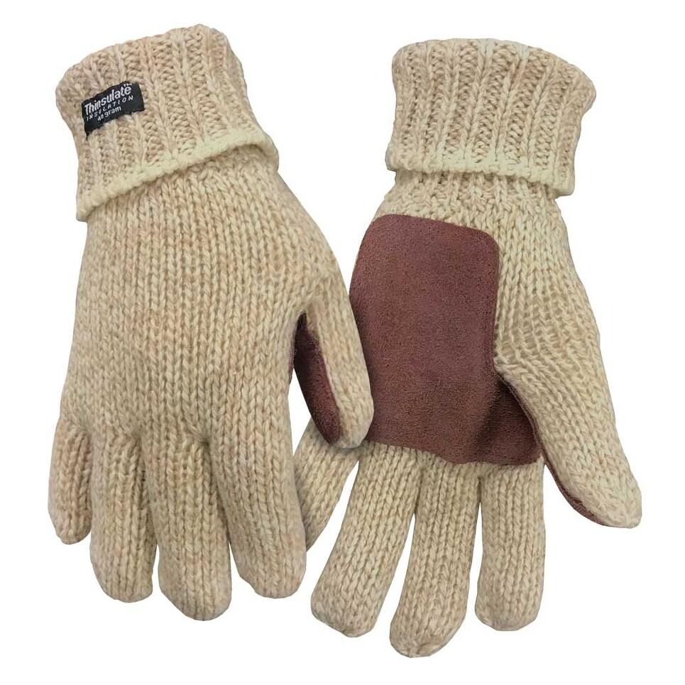 Gloves Mens Black Polar Fleece 40 Gram 3M Thinsulate Waterproof Medium Large