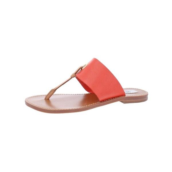 Steve Madden Womens Ringer Flat Sandals Open Toe Thong