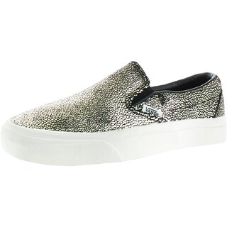 Vans Mens Slip-On Shoes Snake Print Skate - 4 medium (d)