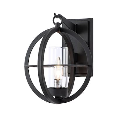 Global Cage 1-light Outdoor Wall Lantern - Black