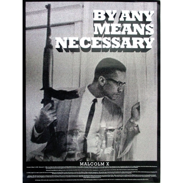 Shop Malcolm X Poster By Any Means Necessary 18x24