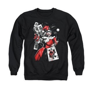 Batman DC Comics Harley Quinn Smoking Gun Mens Crewneck Sweatshirt