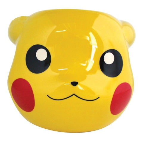 Pokemon Pikachu Coffee Mug - Yellow Ceramic 3D Sculpted Cup - 16 Ounce
