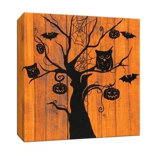"""PTM Images 9-147423  PTM Canvas Collection 12"""" x 12"""" - """"Night Owls"""" Giclee Halloween Art Print on Canvas"""