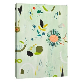 """PTM Images 9-108679  PTM Canvas Collection 10"""" x 8"""" - """"Colorful Spring IV"""" Giclee Flowers and Leaves Art Print on Canvas"""