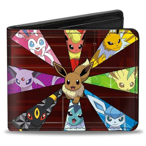 Eevee Evolution Pokmon Rays + Pokmon Reds Bi Fold Wallet - One Size Fits most